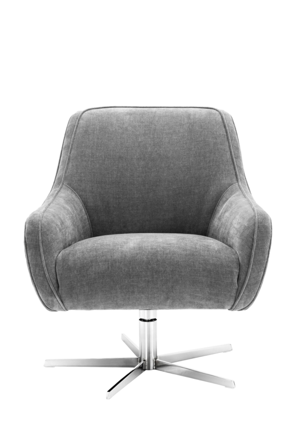 Gray Upholstered Swivel Chair | Eichholtz Serena | OROA Furniture