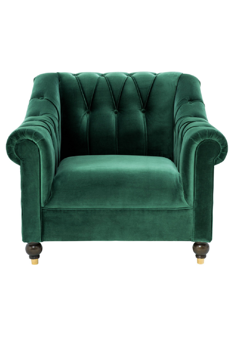 Tufted Green Accent Chair | Eichholtz Brian