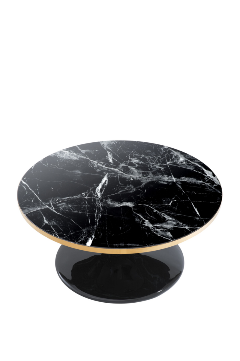Round Marble Pedestal Coffee Table | Eichholtz Parme | OROA