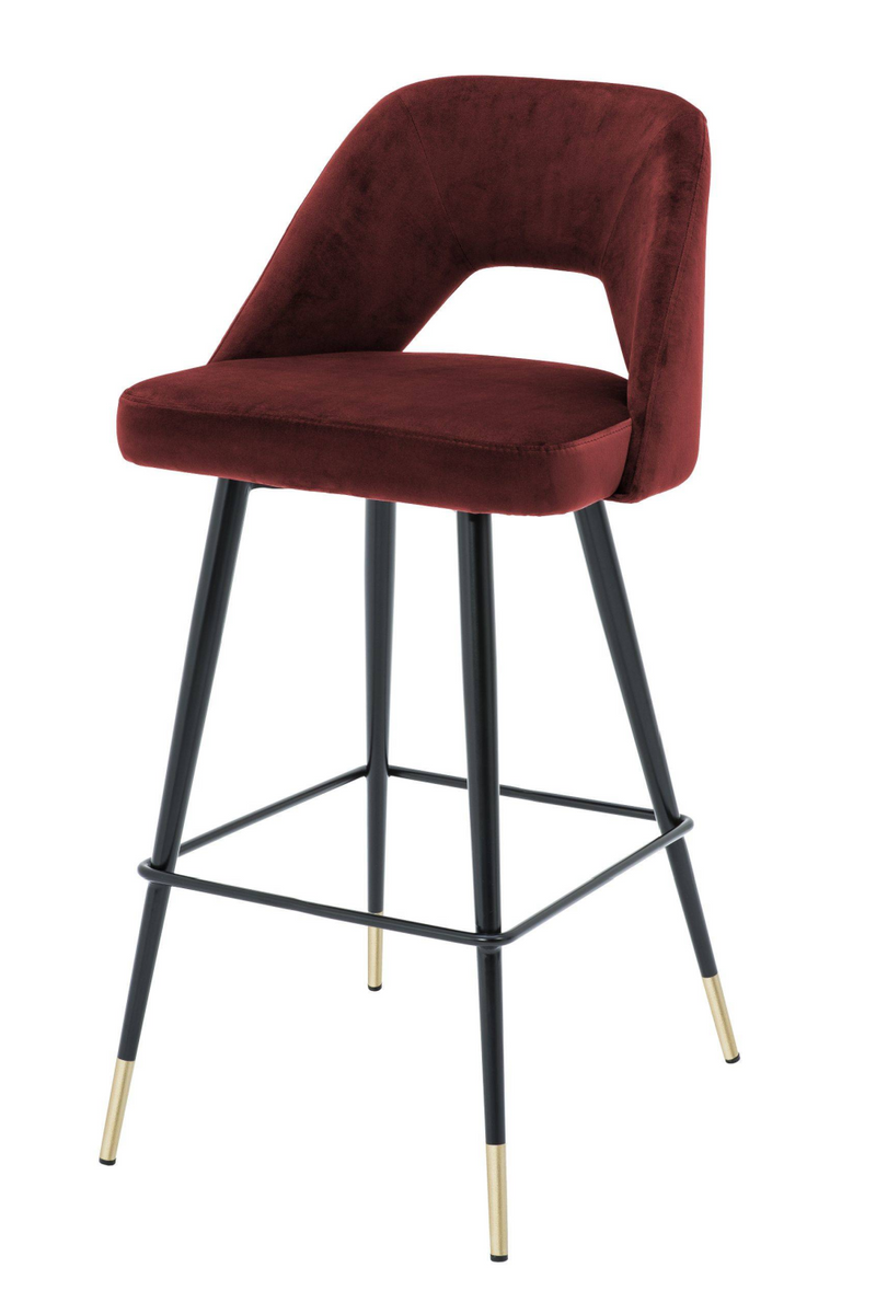 Red Velvet Bar Stool | Eichholtz Avorio