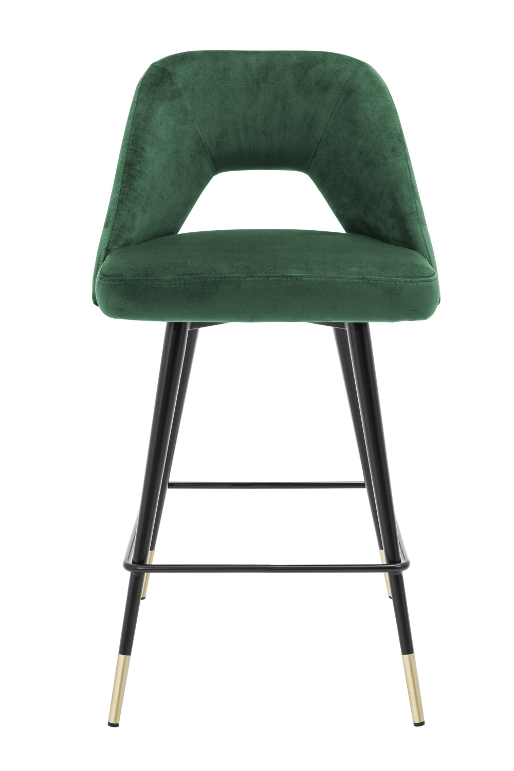 Green Velvet Counter Stool | Eichholtz Avorio