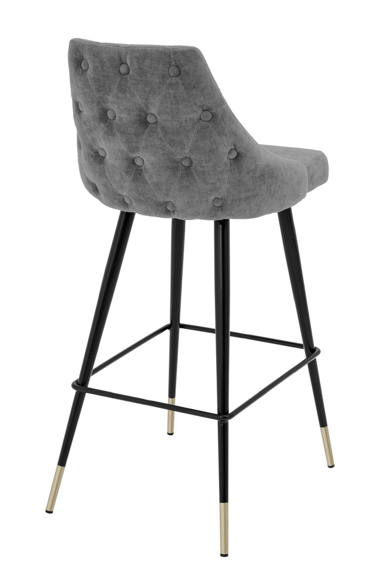 Gray Upholstered Bar Stool | Eichholtz Cedro