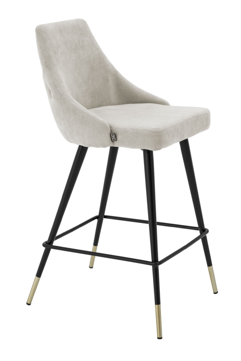 Beige Upholstered Counter Stool | Eichholtz Cedro
