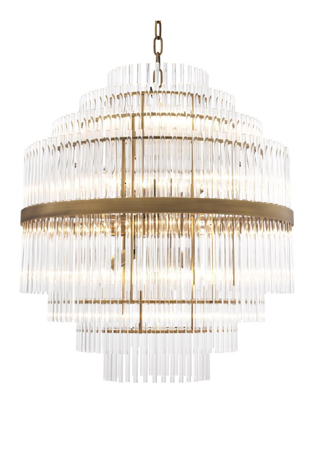 Glass Layered Chandelier | Eichholtz East