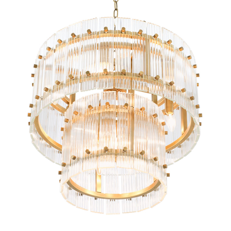 2 Tier Glass Chandelier - S | Eichholtz Ruby | OROA - Lighting