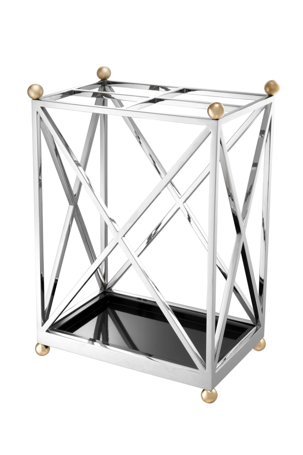 Silver Geometric Umbrella Stand | Eichholtz Quorum