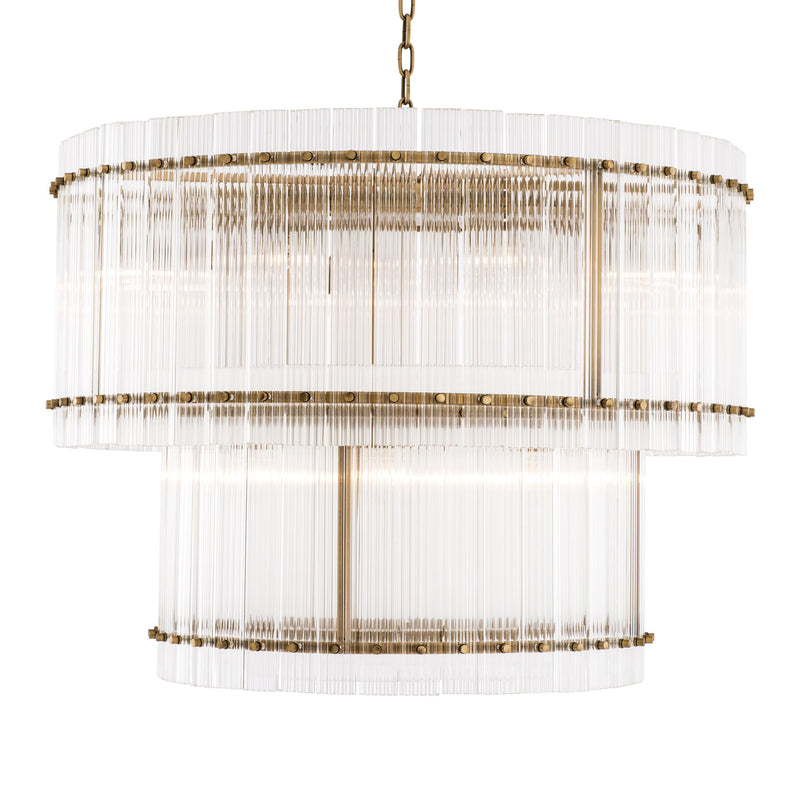 2 Tier Glass Chandelier | Eichholtz Ruby L