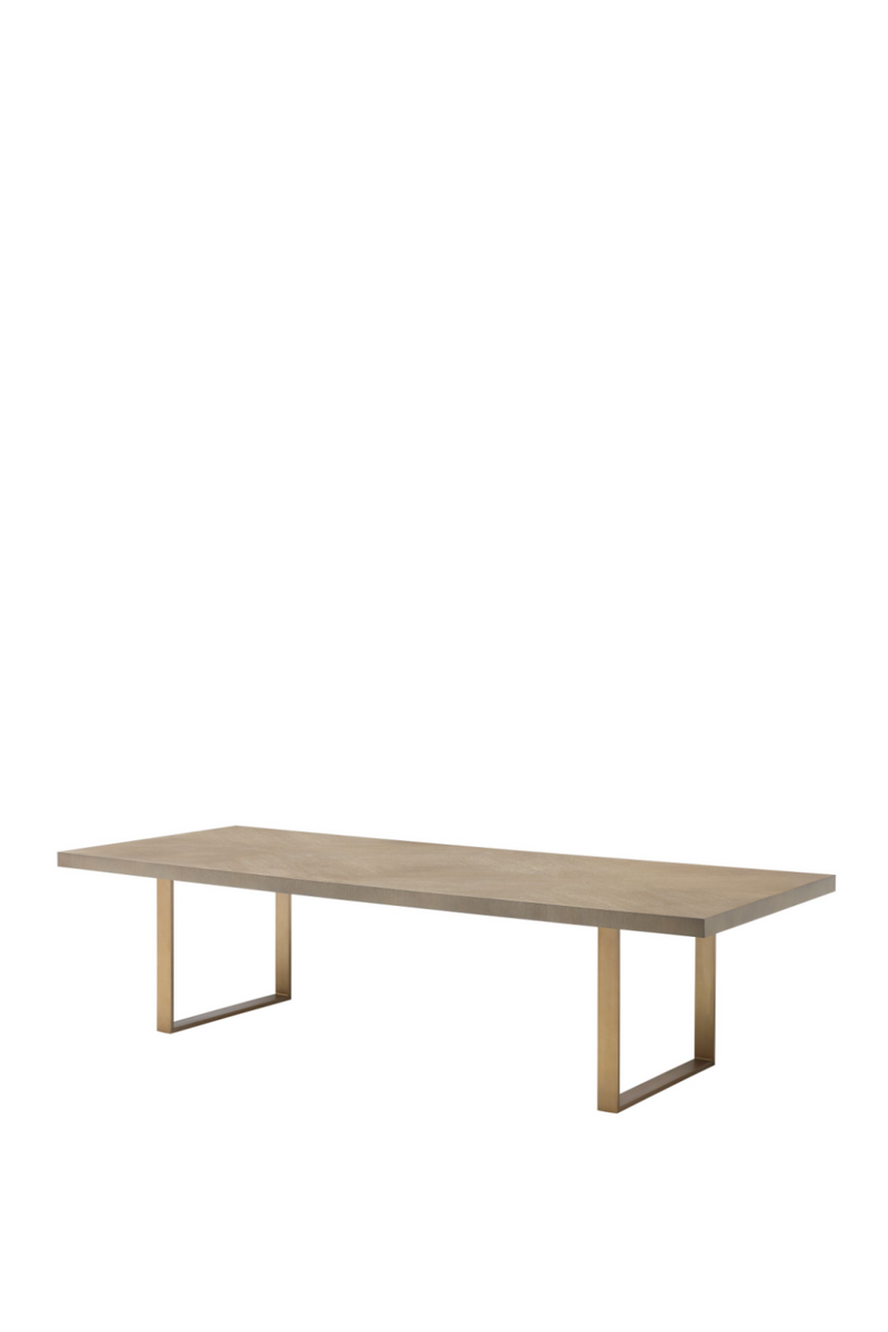 Rectangular Oak Dining Table 120"