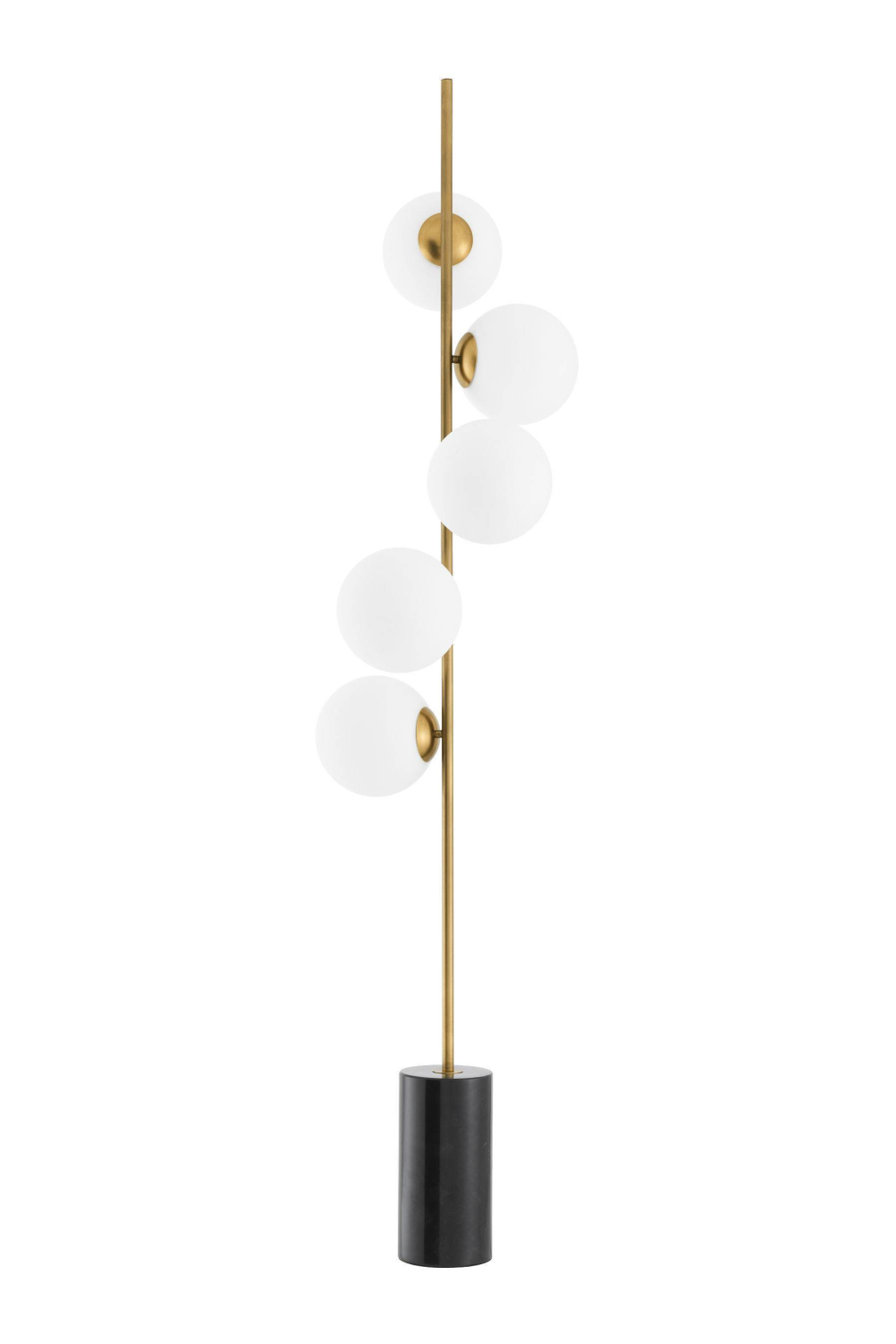 Brass Black Marble Floor Lamp | Eichholtz Tempo
