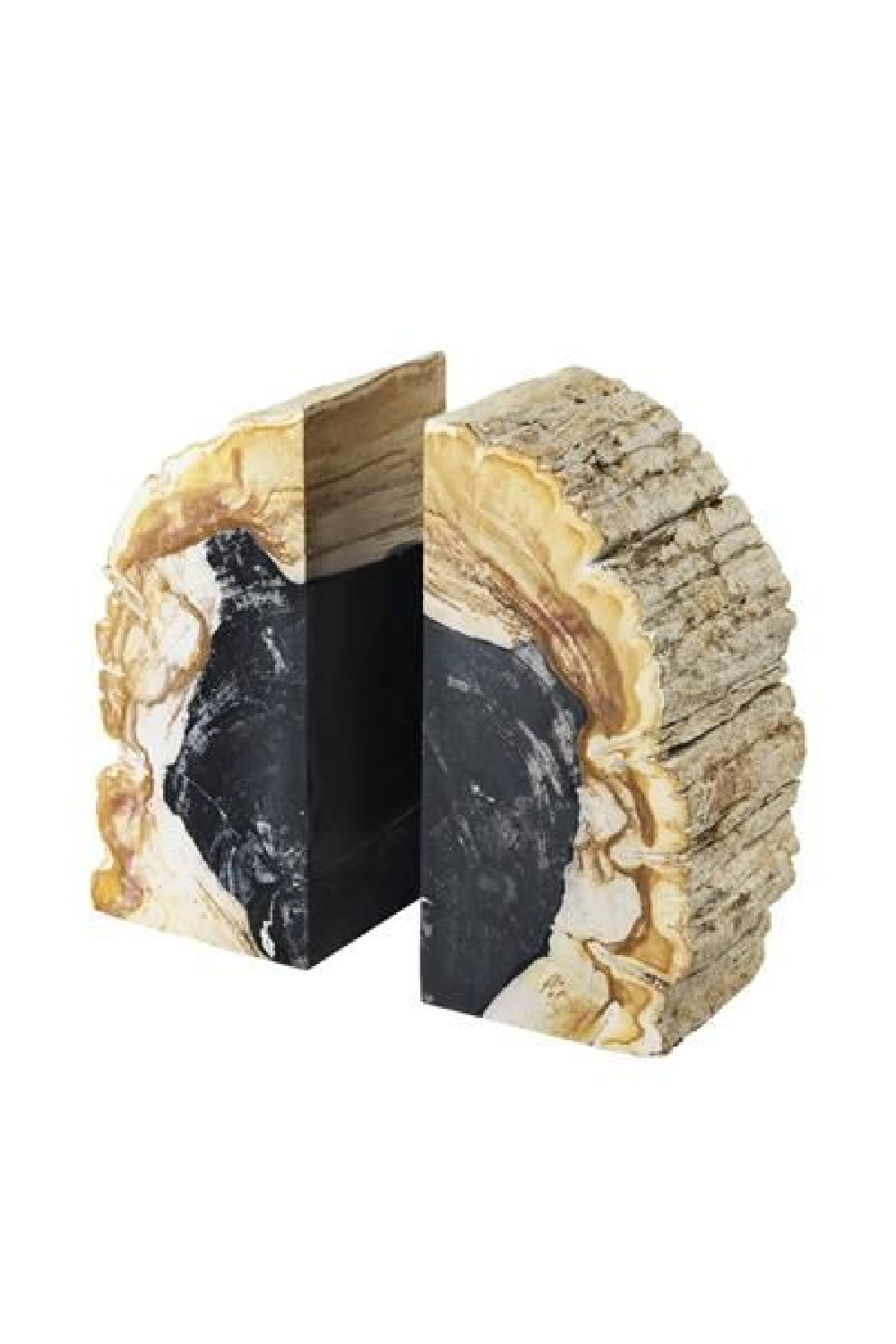 Petrified Wood Bookends | Eichholtz Opia