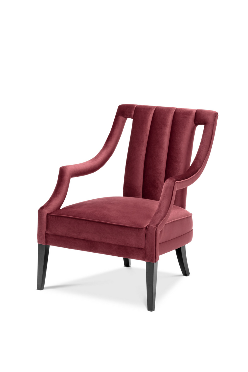 كرسي بذراعين من Red Velvet Accent | ايخهولتز ارميتاج | Woodfurniture.com
