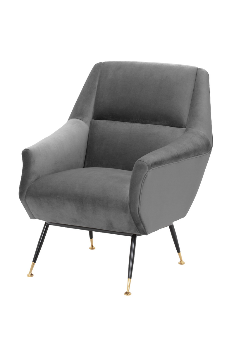 Gray Velvet Upholstered Armchair | Eichholtz Exile | OROA Furniture