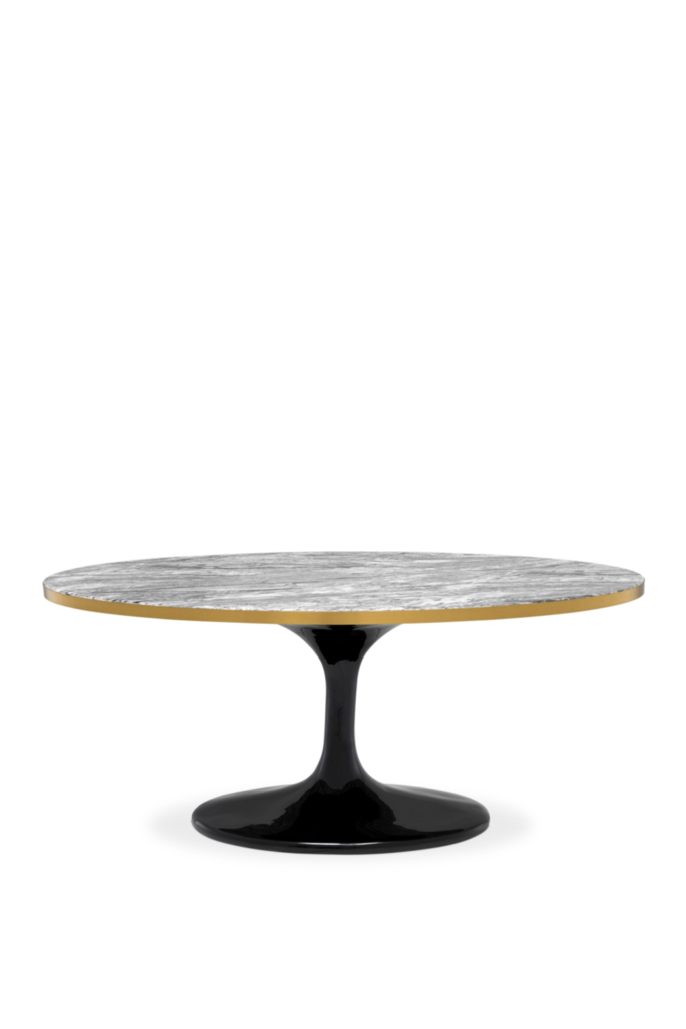 Oval Gray Marble Coffee Table | Eichholtz Parme |#1 Eichholtz Retailer