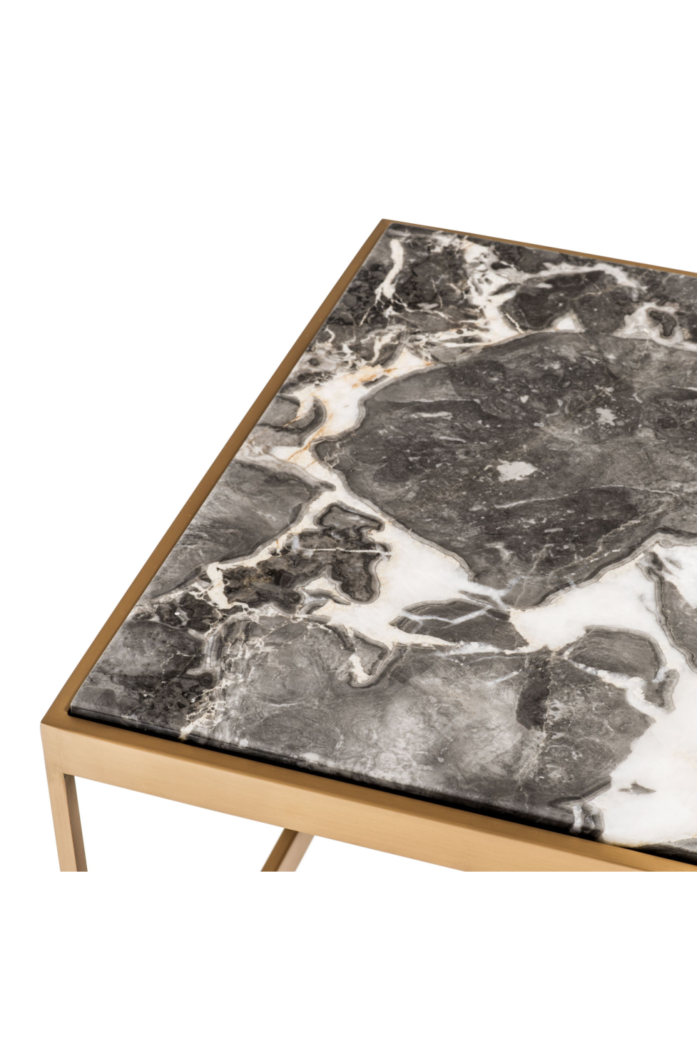 Marble Top Brass Frame Coffee Table | Eichholtz La Quinta