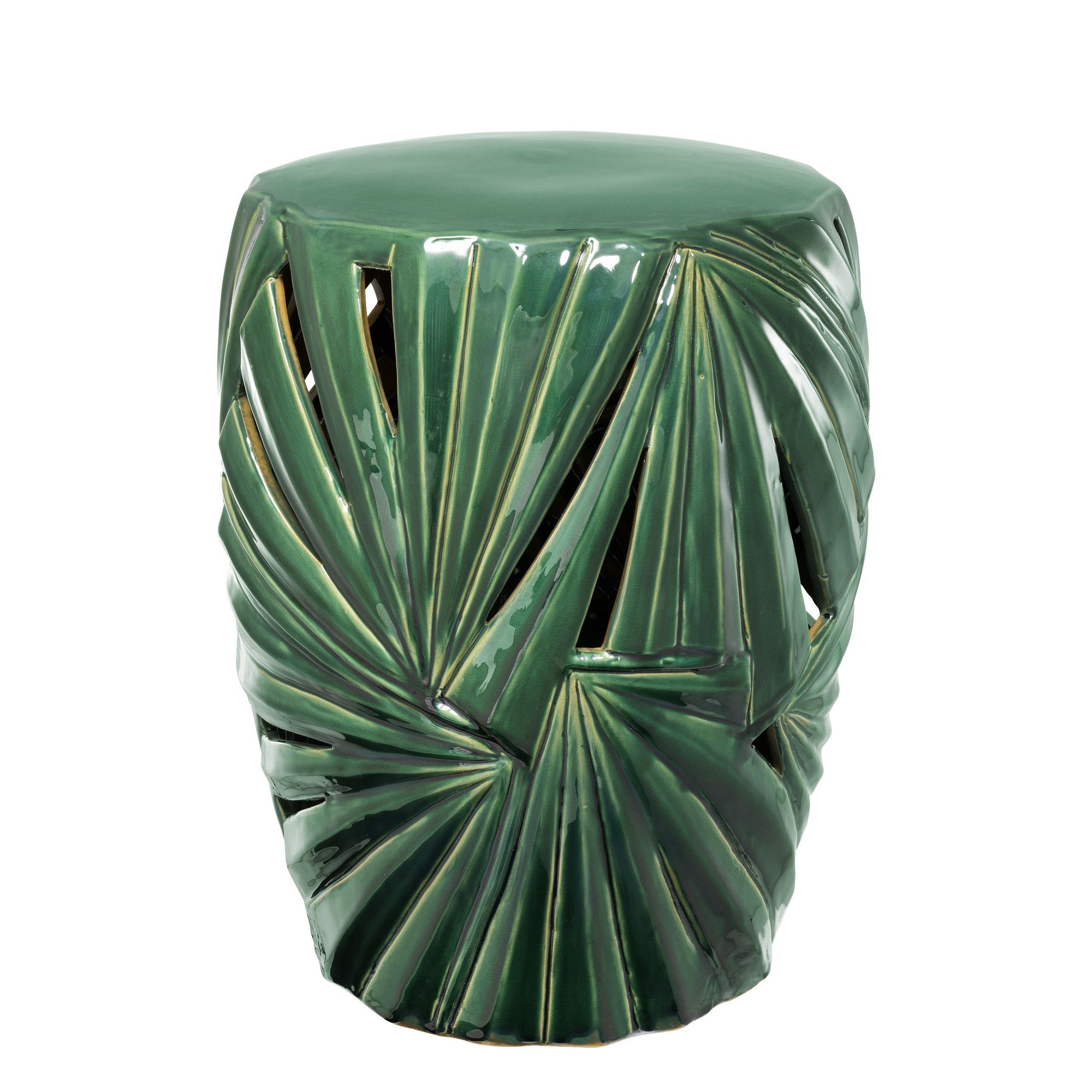 Green Ceramic Drum Table | Eichholtz Madeira