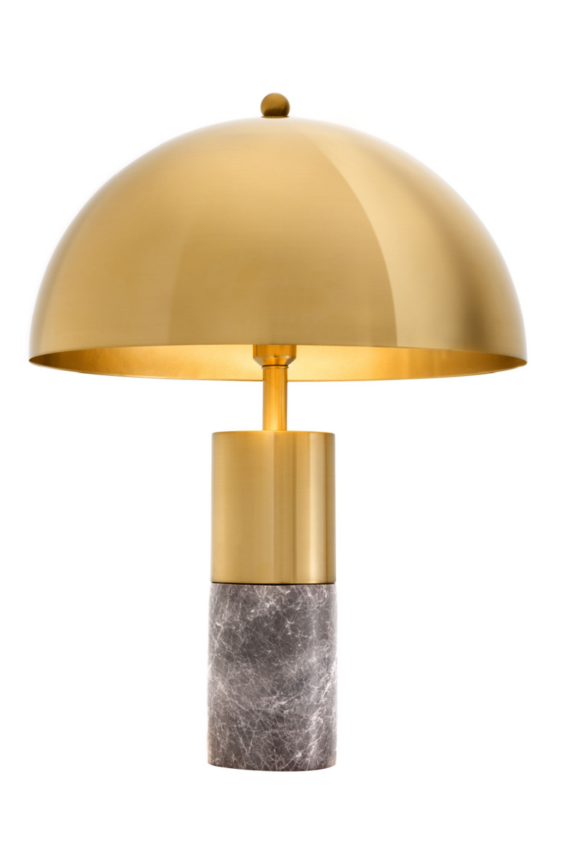 Gold Metal Dome Bordlampe | Eichholtz Flair