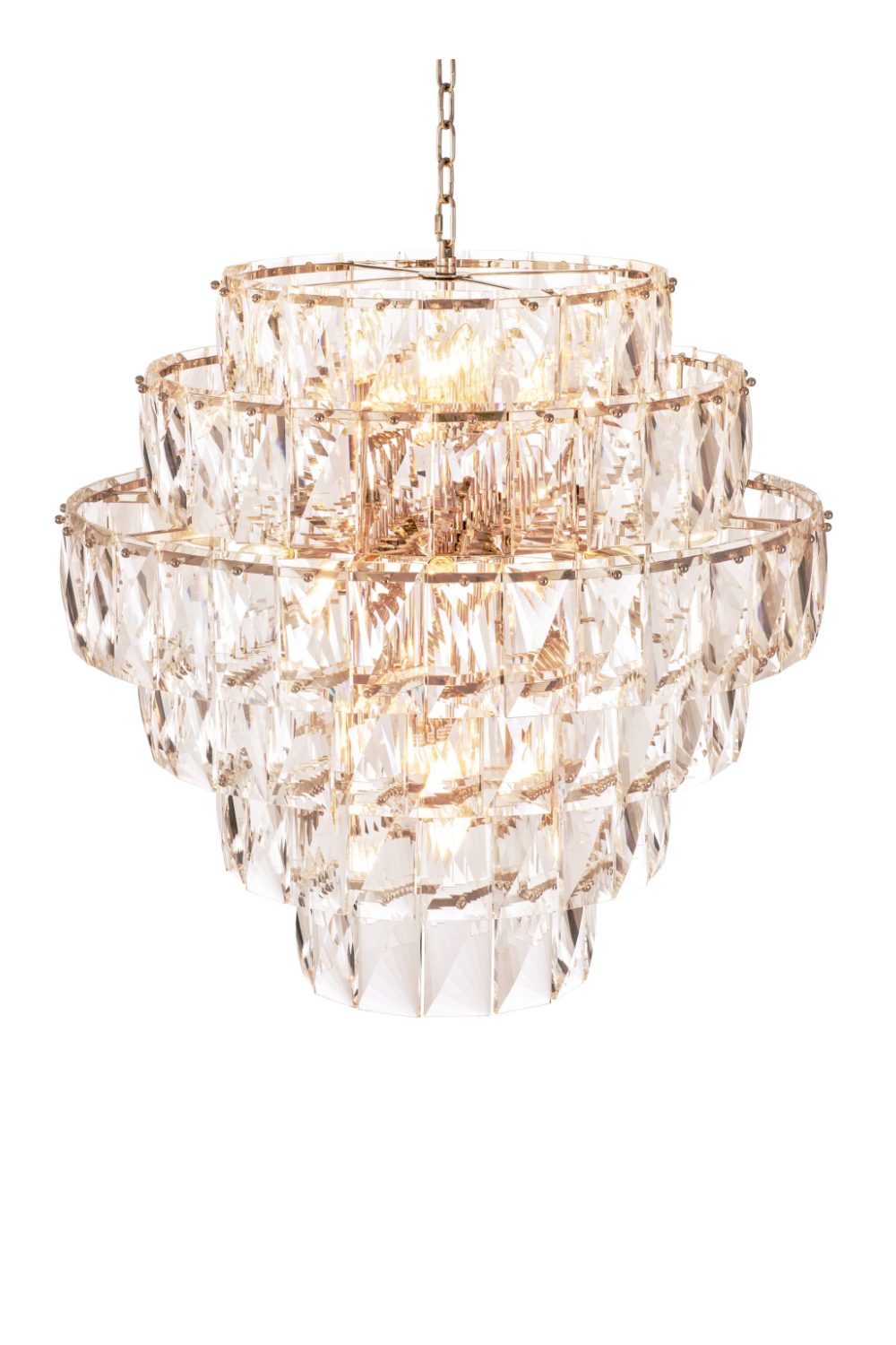 Glass Layered Chandelier | Eichholtz Amazone L