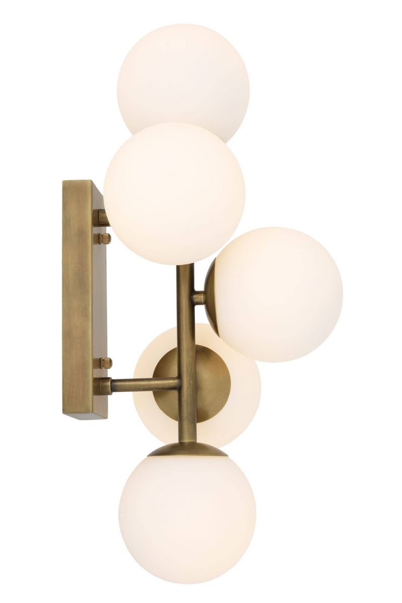 White Glass Multi Globe Wall Lamp | Eichholtz Libris