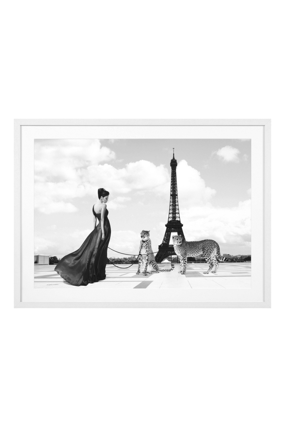 Black & White Eiffel Tower Print | Eichholtz Trocadero View | Woodfurniture.com