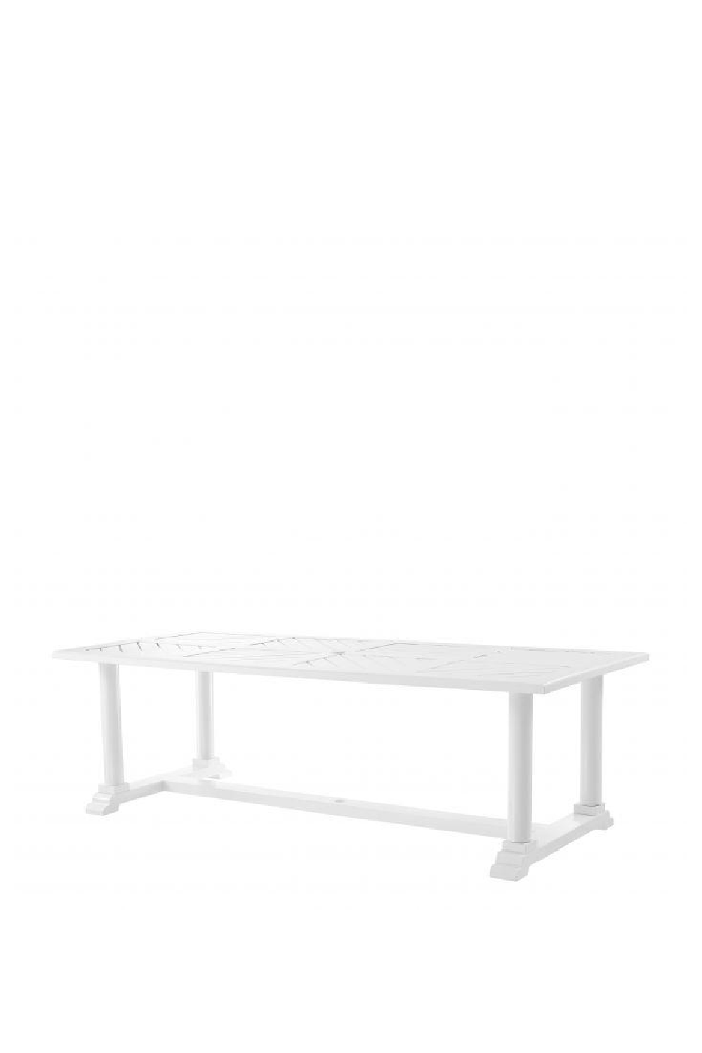 White Lacquer Dining Table | Eichholtz Bell Rive | OROA Furniture