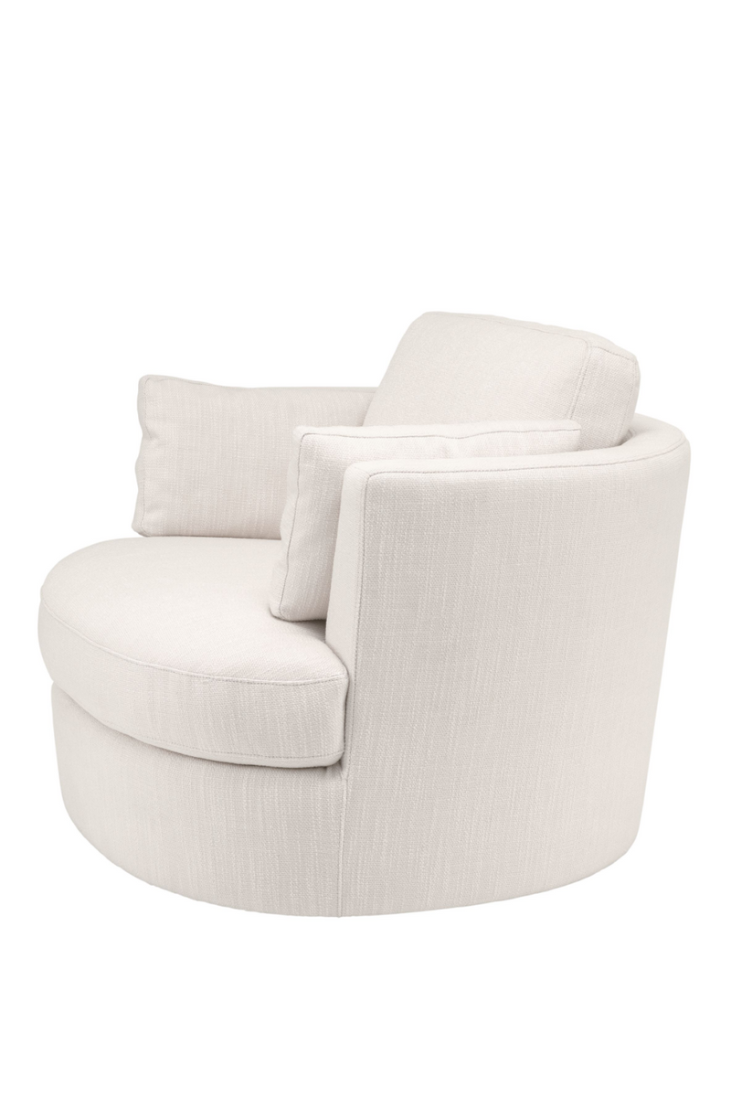 Beige Upholstered Swivel Chair | Eichholtz Clarissa