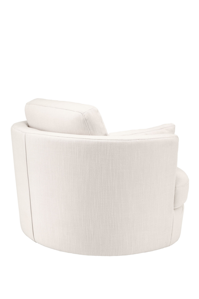 Beige Upholstered Swivel Chair | Eichholtz Clarissa | OROA Furniture