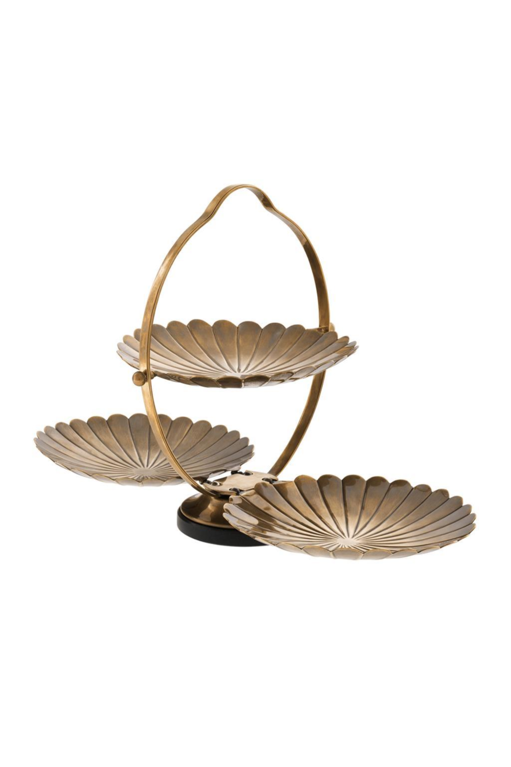 Gold Scalloped Tray | Eichholtz Beatrice | OROA Luxury Furniture