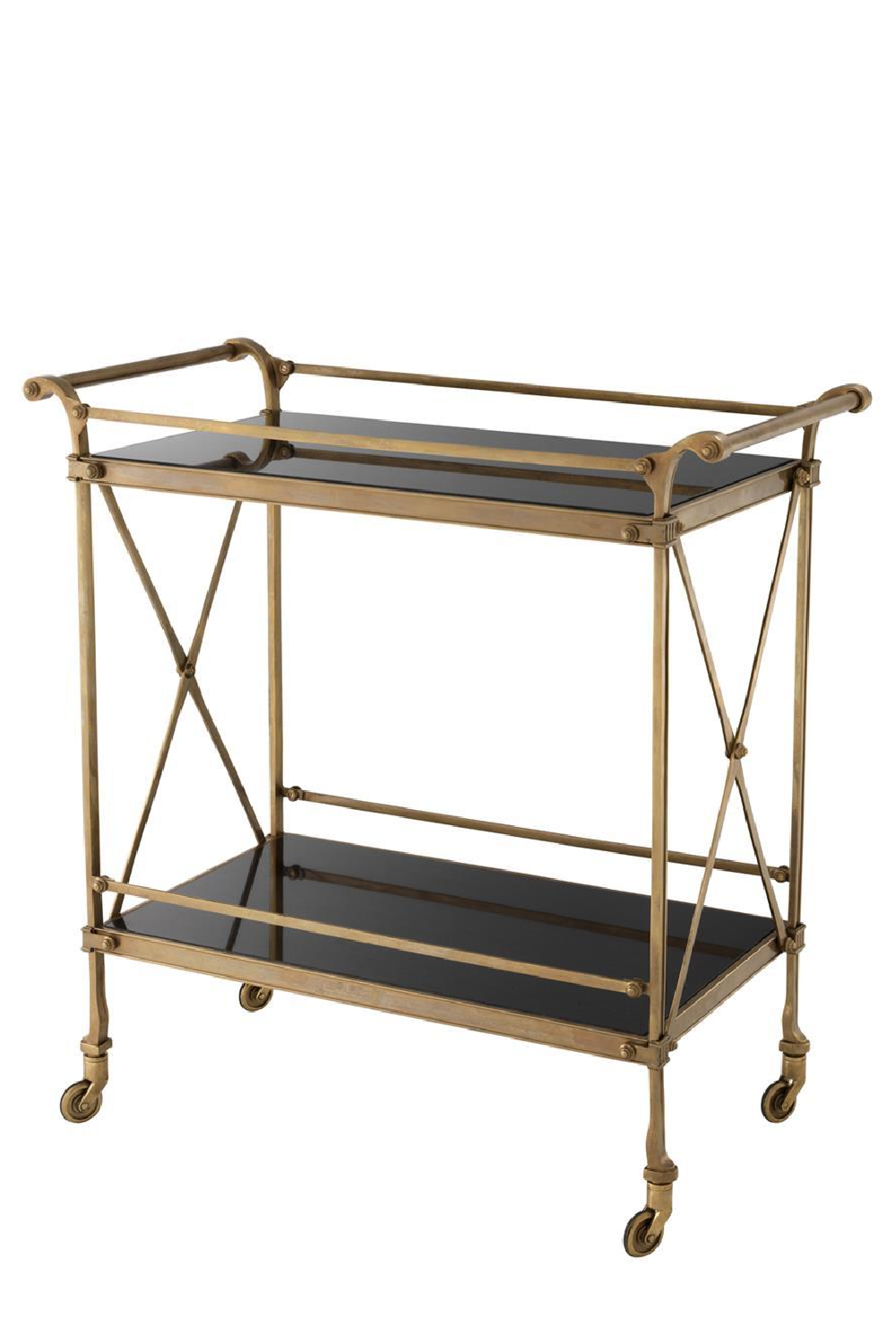 Antique Brass Bar Cart | Eichholtz Aura | #1 Eichholtz Retailer