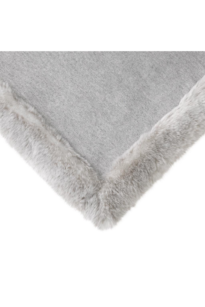 Light Gray Fur Throw | Eichholtz Alaska | OROA - #1 Eichholtz Retailer