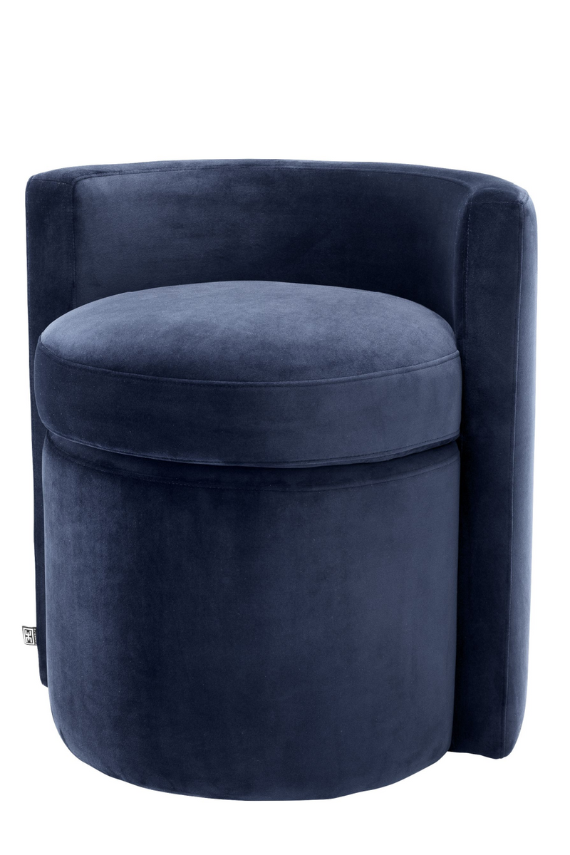 Blue Curved Back Stool | Eichholtz Arcadia