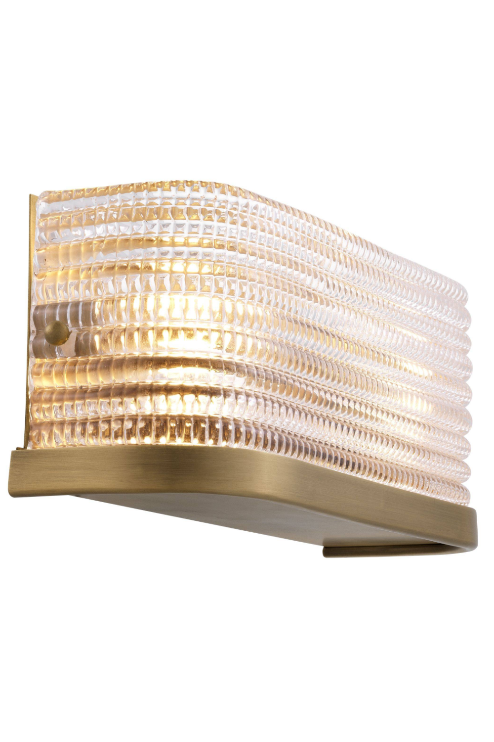 Curved Glass Wall Flush Mount | Eichholtz Culver | OROA Luxury Light