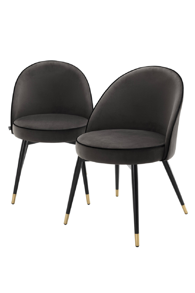 Dark Gray Dining Chair Set Of 2 | Eichholtz |