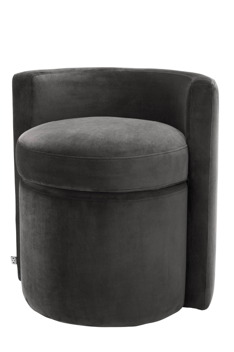 Black Curved Back Stool | Eichholtz Arcadia