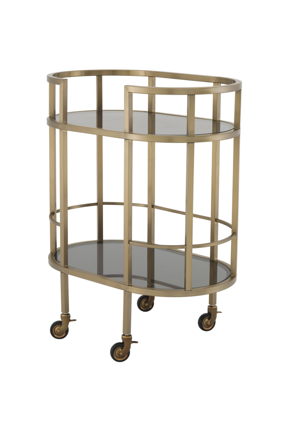 Brushed Brass Bar Cart | Eichholtz Townhouse | #1 Eichholtz Retailer