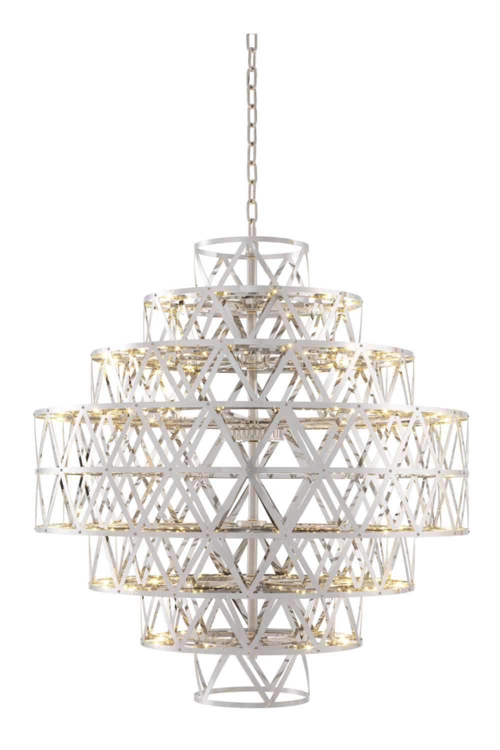 Metal Geometric Chandelier | Eichholtz Clinton