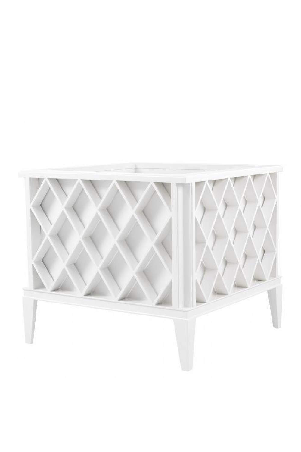White Lacquer Planter | Eichholtz Ocean Club | OROA - Patio Furniture