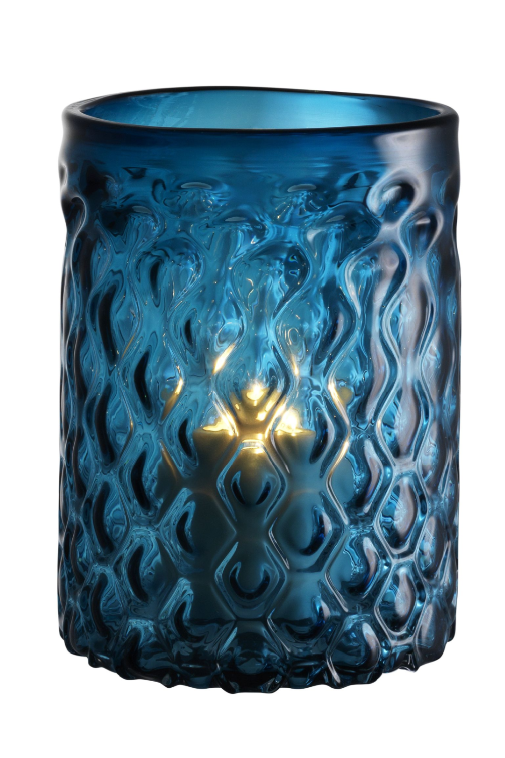 Blue Glass Hurricane - S | Eichholtz Aquila | OROA Modern Luxury Decor