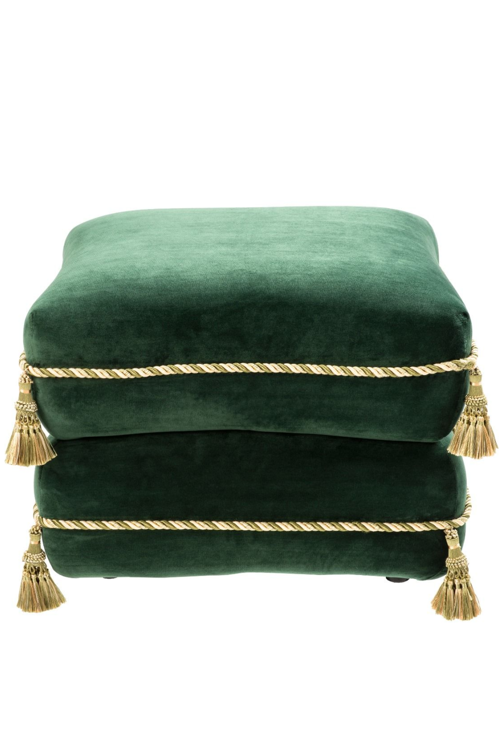 Green Velvet Stacked Pillow Stool | Eichholtz Bernini | OROA Furniture