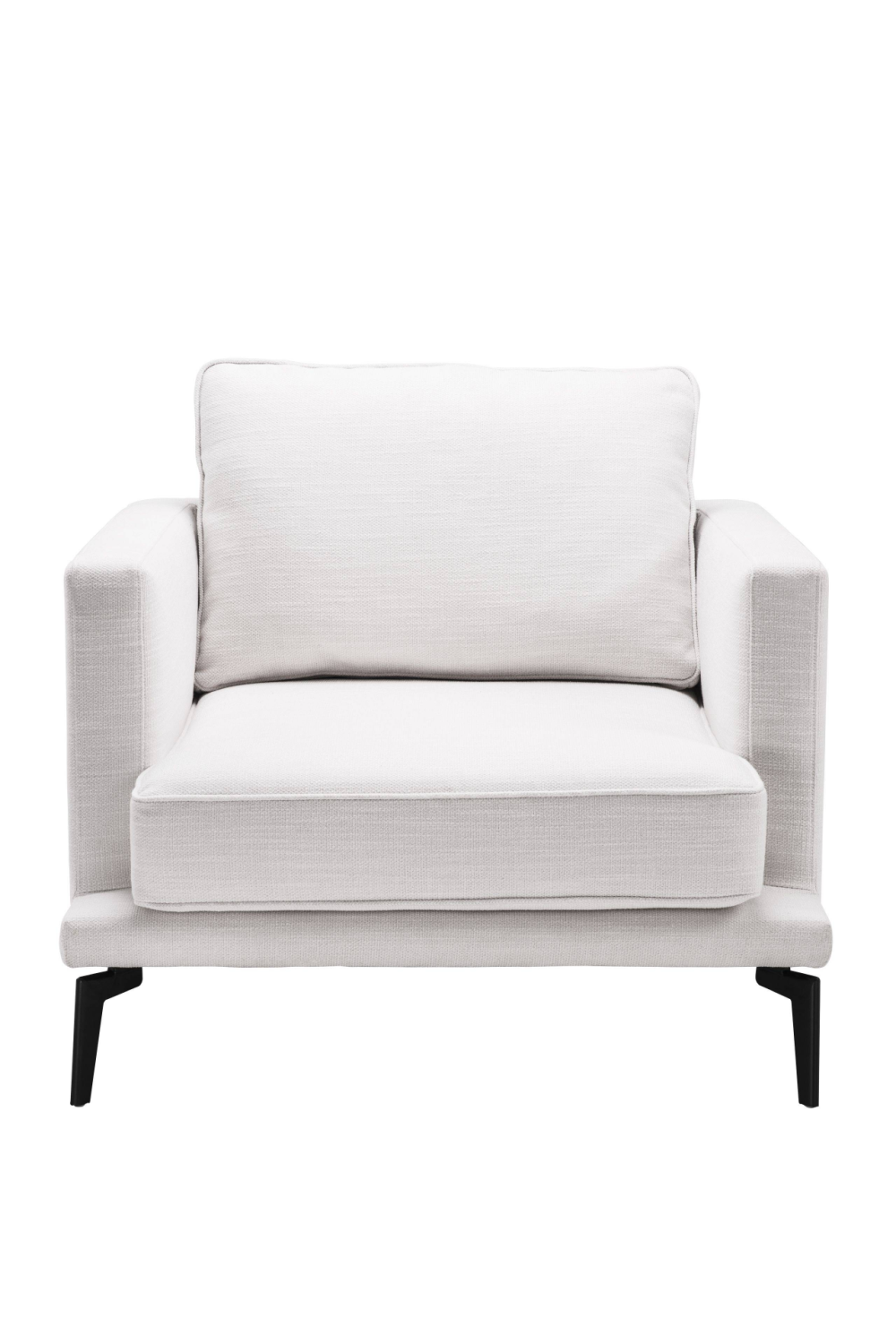 White Minimalist Armchair | Eichholtz Avenue 54 | European Furniture