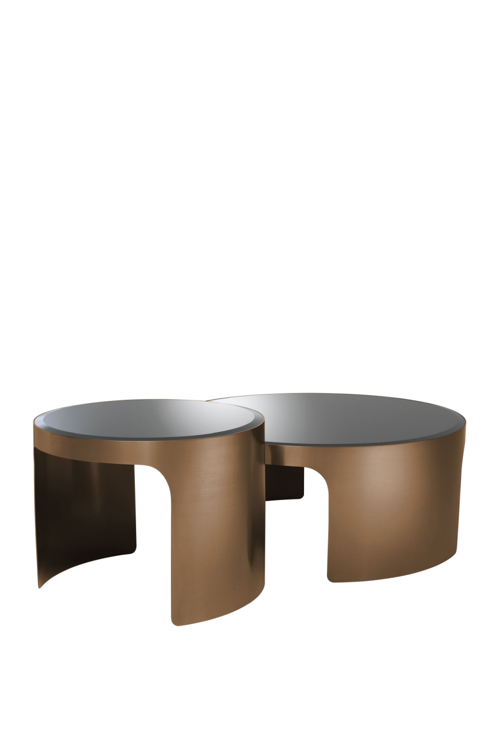 Copper Nesting Coffee Table Set Of 2 | Eichholtz Piemonte | OROA