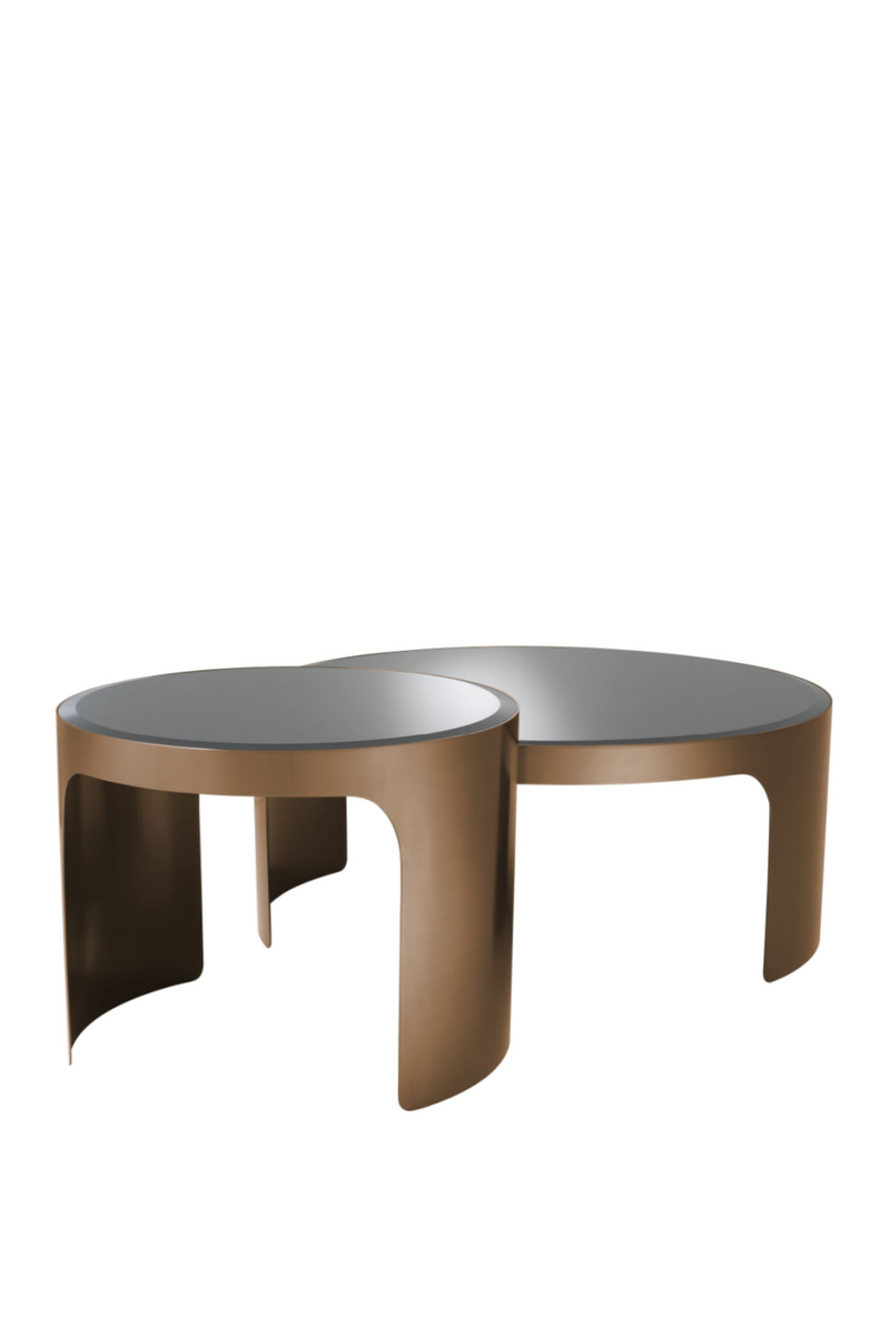 Copper Nesting Coffee Table Set Of 2 | Eichholtz Piemonte
