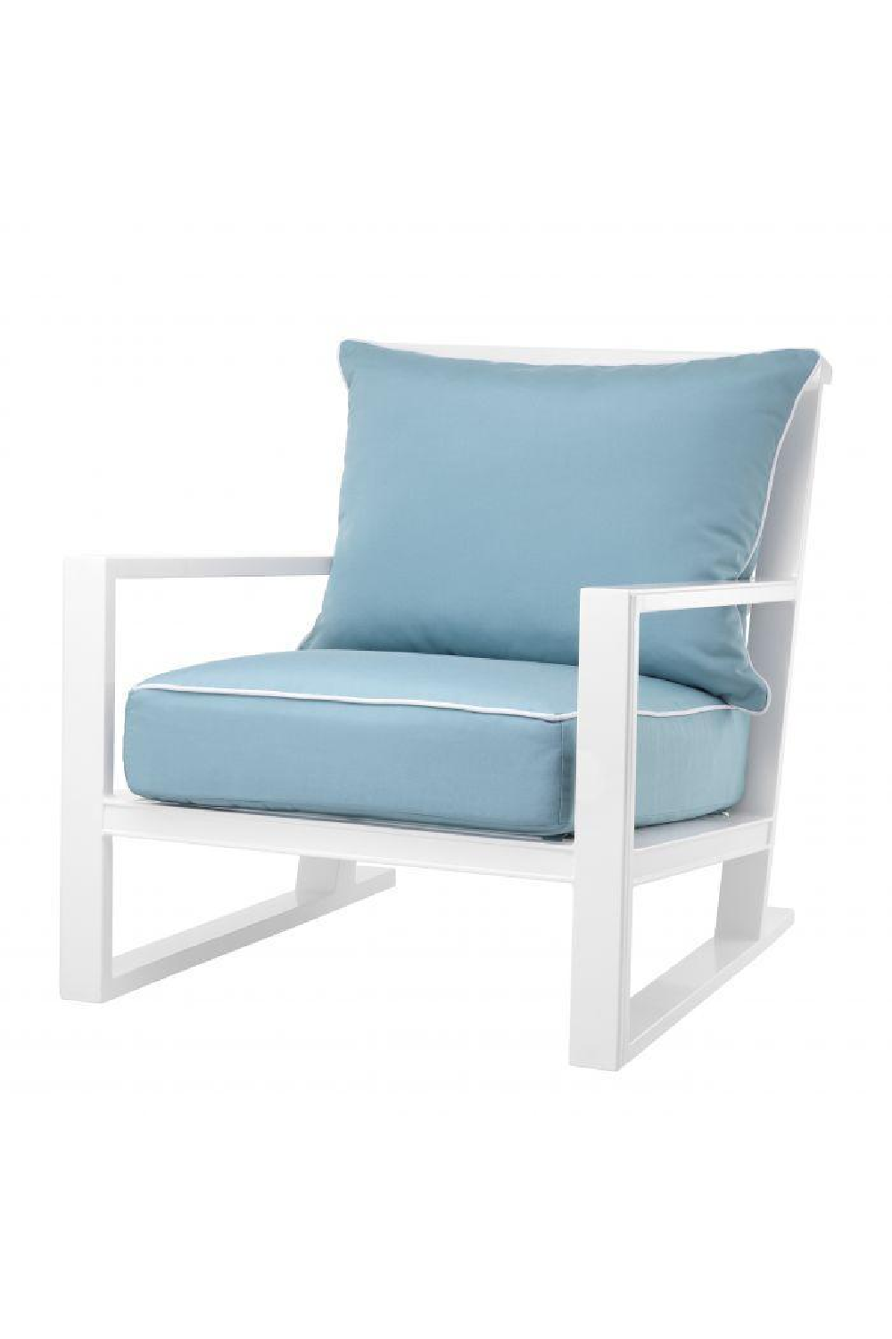 White Outdoor Sunbrella Lounge Chair | Eichholtz Como
