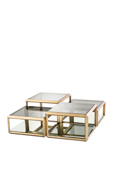 Brass Coffee Table Set | Eichholtz Callum | #1 Eichholtz Retailer