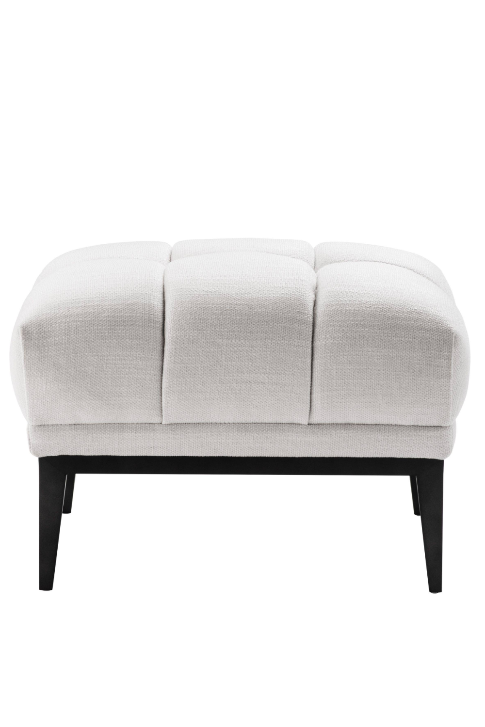 White Tufted Accent Stool | Eichholtz Aurelio