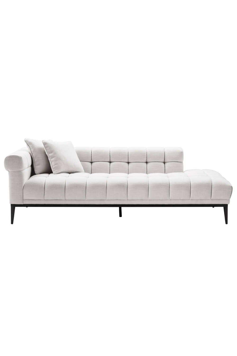 White Biscuit-Tufted Lounge Sofa | Eichholtz Aurelio - L
