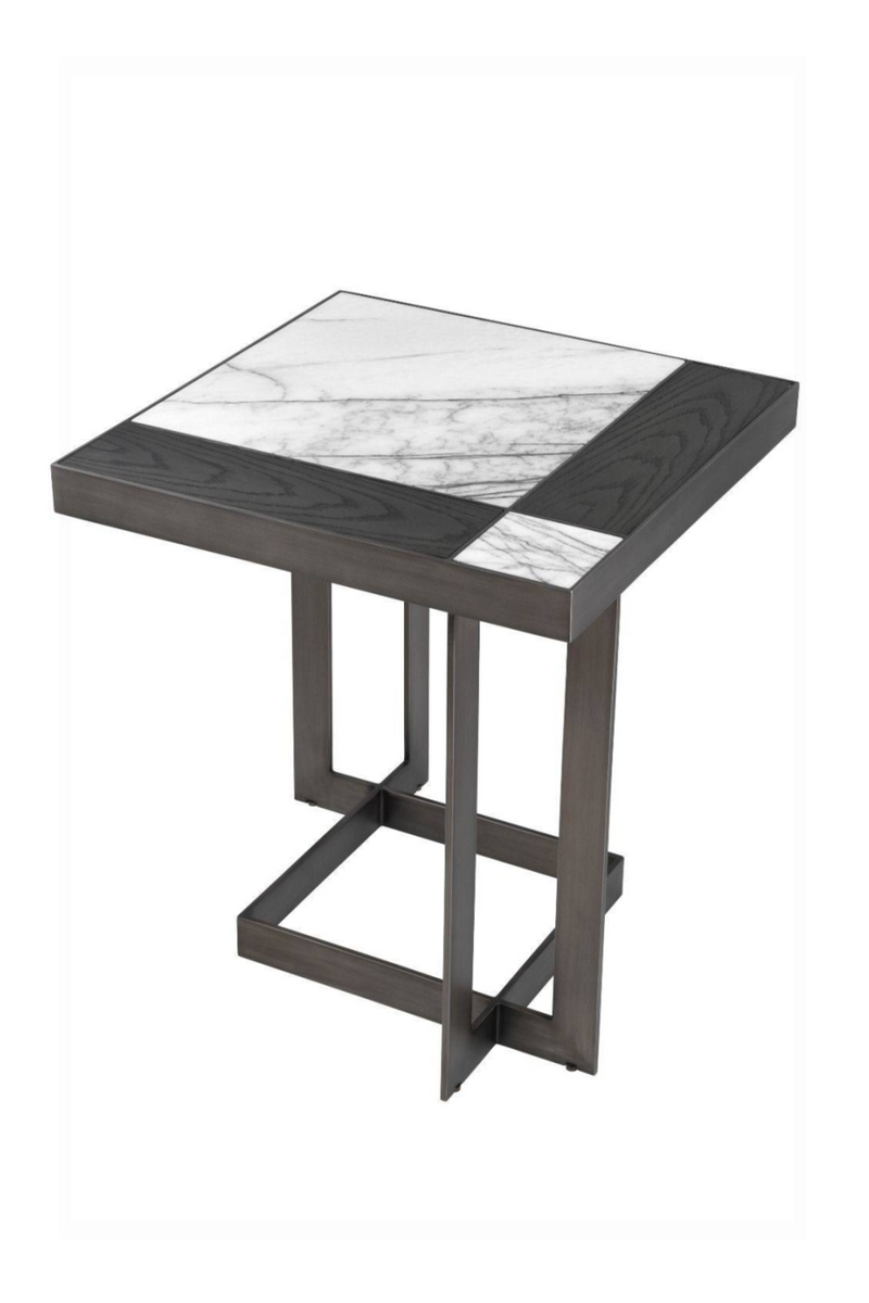 White Mocha Side Table | Eichholtz Hermoza