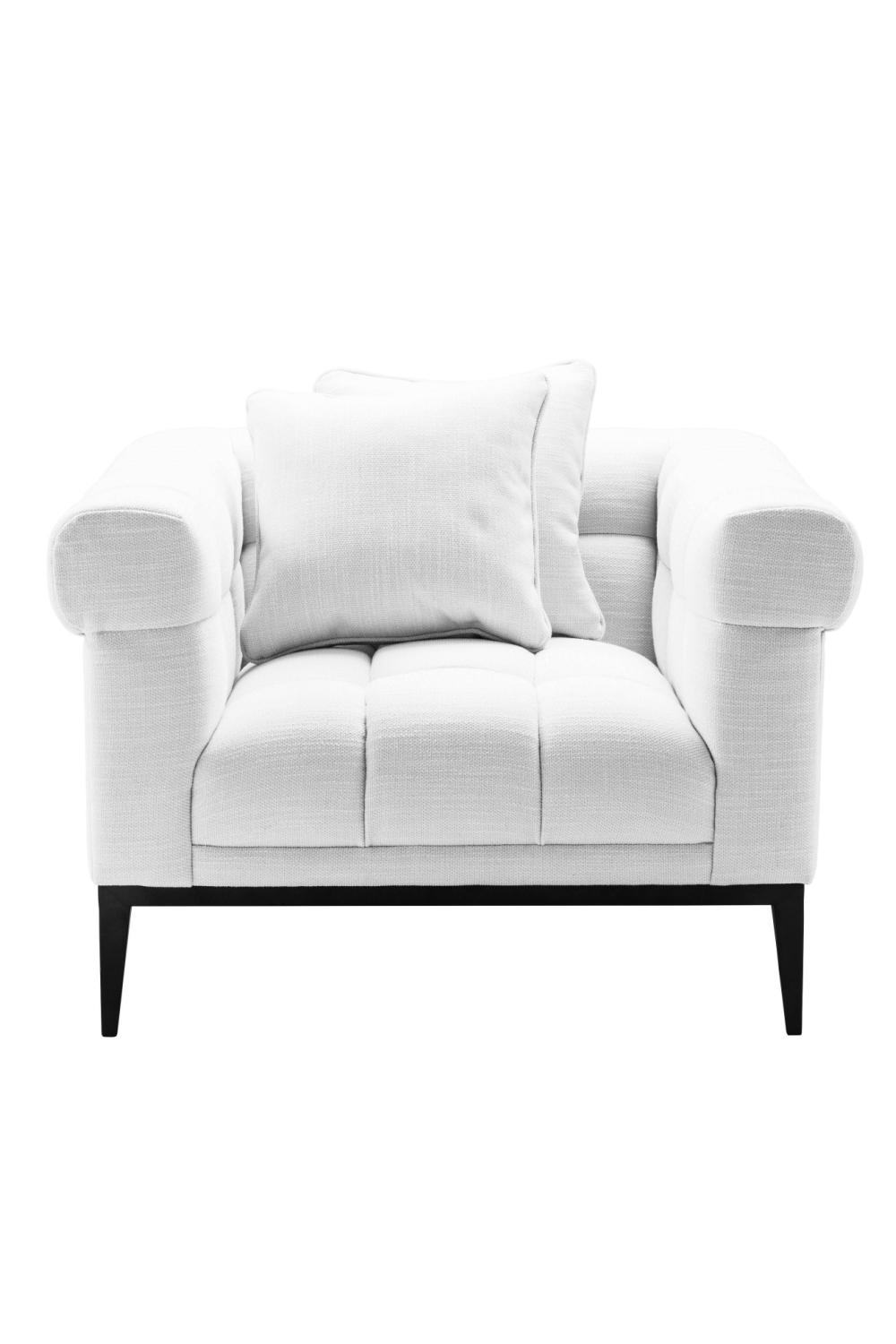 Tufted White Accent Chair | Eichholtz Aurelio | Oroa Luxury Furniture