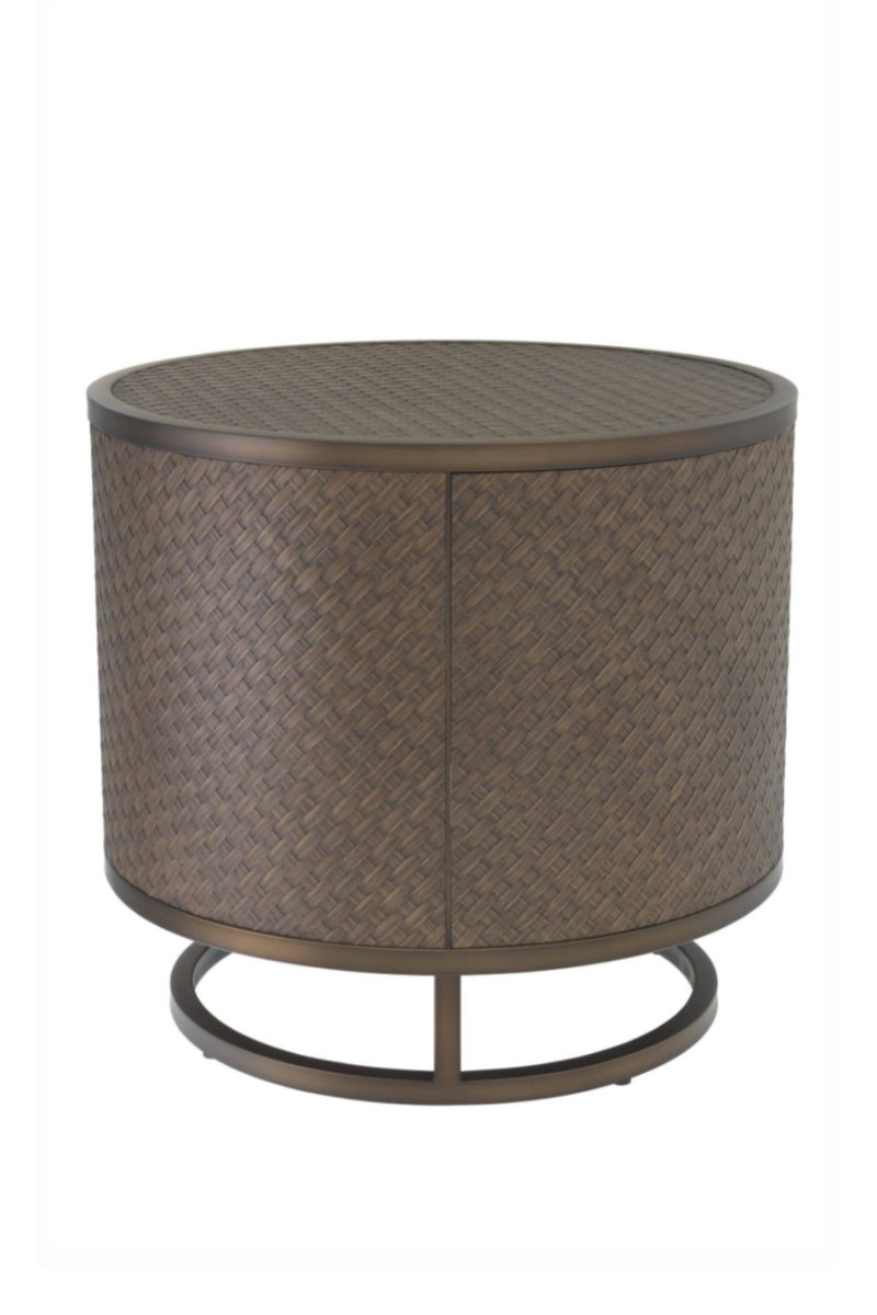 Woven Oak Side Table | Eichholtz Napa Valley