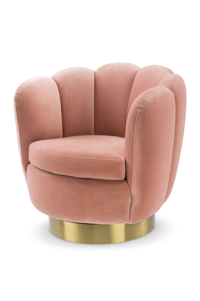Blush Scalloped Swivel Chair | Eichholtz Mirage