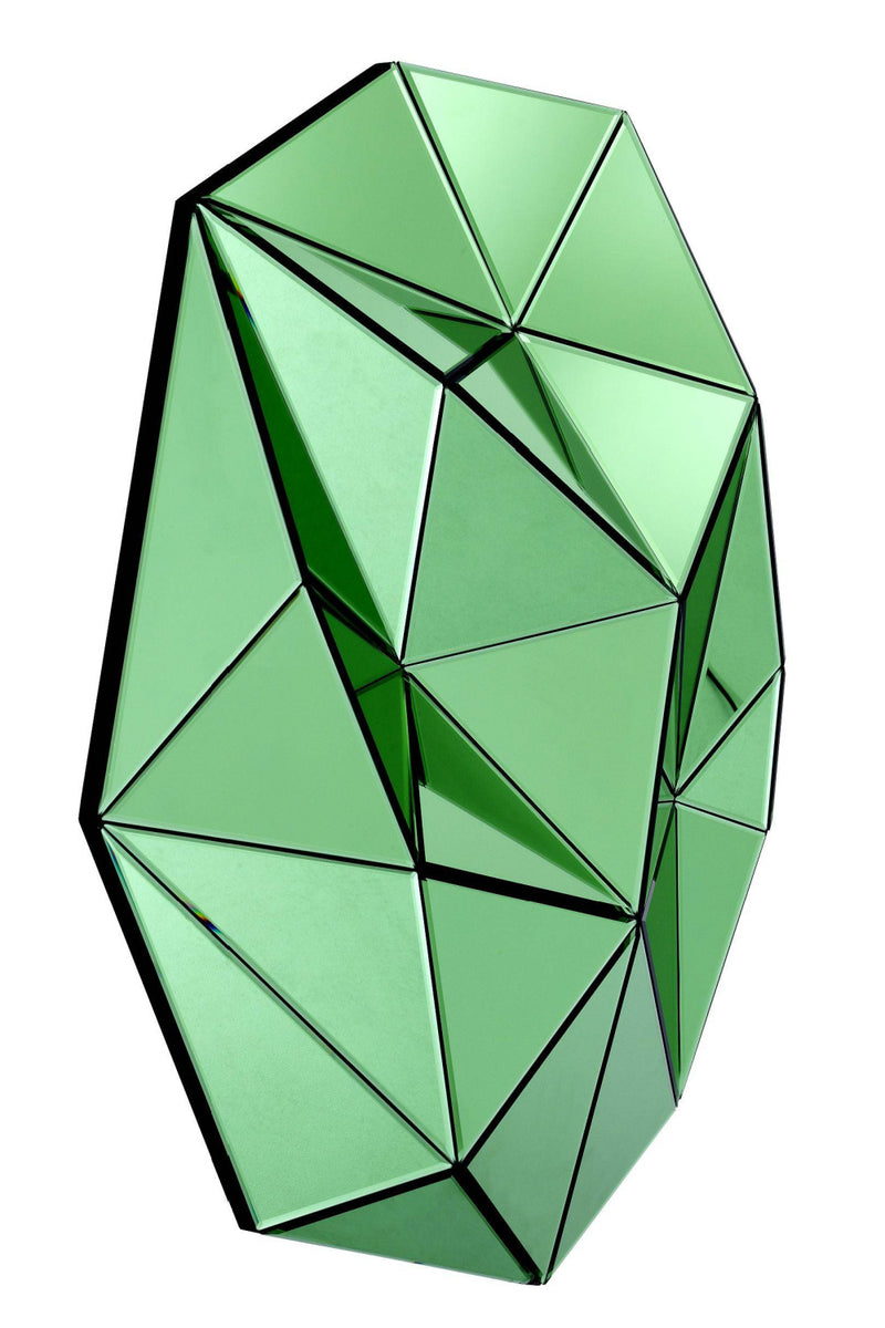 Green 3D Faceted Mirror | Eichholtz Topanga